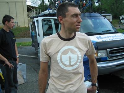 Burke in suspicious t-shirt
